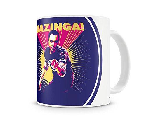 Offizielles Lizenzprodukt Sheldon Says BAZINGA! Kaffeetasse, Kaffeebecher