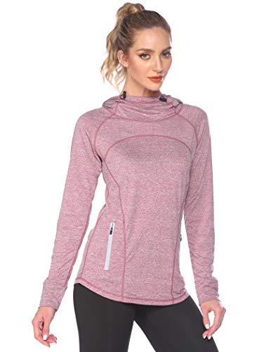 ADOME Camiseta deportiva de manga larga para mujer, para correr, yoga, entrenamiento,...