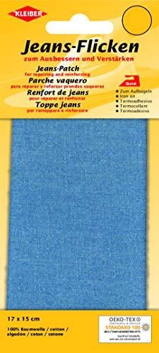 Kleiber + Co.GmbH Jeans-Bügelflicken, Polyester, Blau, 15x17 cm