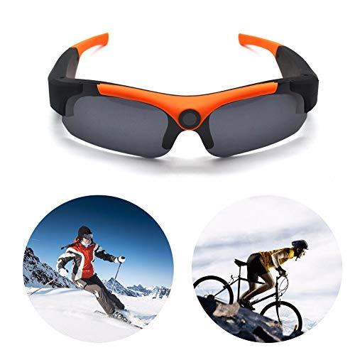 WQYRLJ Gafas de Sol de la cámara 1080P Full HD, 120 Grados de conducción Gafas de Sol al Aire Libre DVR Deportes Gafas con cámara de vídeo para Montar/Pesca/de la Motocicleta