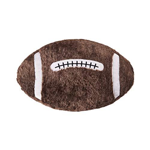 Amosfun Dekokissen Rugby Ball Plüsch Kissen Rugby Neuheit Gefüllte Geschenk für Home Bar Cafe Dekorative Spielzeug Super Bowl Dekoration Fußball Party Supplies