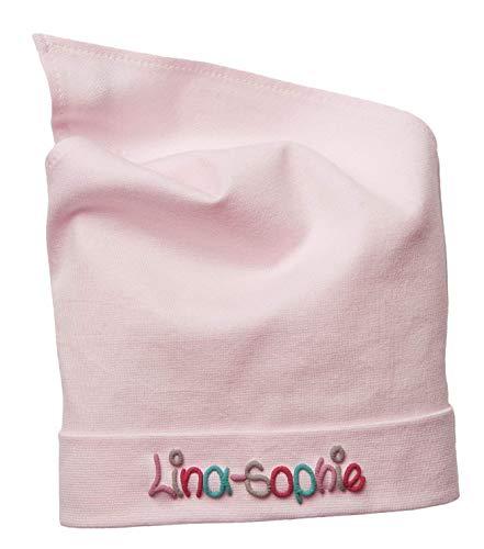 Kopftuch Rosa mit Namen Größe S oder M Sonnenschutz Babymütze Kinderkopftuch für Mädchen Babys Kleinkinder Mädchenkopftuch