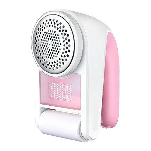 Rehomy Removedor de pelusas de afeitadora de tela, recargable por USB, removedor de pelusas (rosa + blanco)