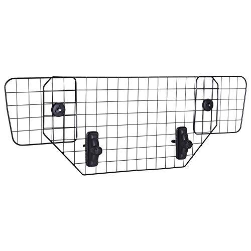 Pawhut Barriera Divisore di Protezione Macchina per Cani Regolabile 89-122x41
