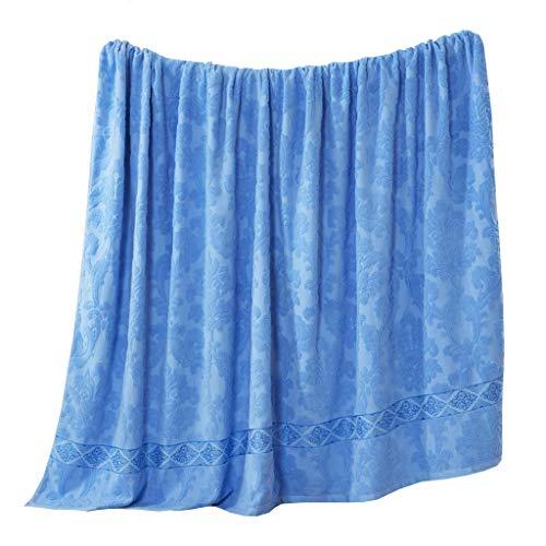 LYQZ Weich Baumwolle Handtuch Quilt Decke Fashion Home Office Mittagspause Vier Jahreszeiten Universal Klimaanlage Decke 150 * 200 cm (Color : Blue)