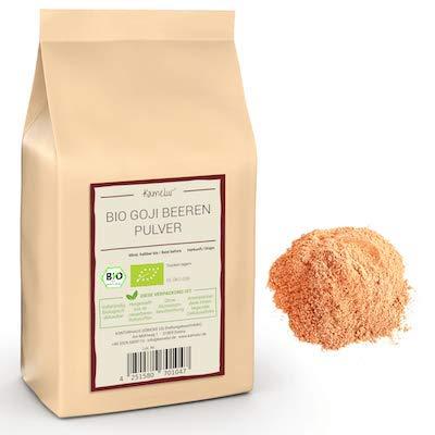 250g de poudre de goji BIO sans additifs - poudre de goji pur - poudre de fruits BIO lyophilisés - poudre de smoothie à base de baies de goji BIO dans un emballage biodégradable
