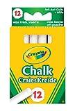 12 gessetti bianchi senza polvere. Raccomandati dal produttore per bambini a partire dai 3anni.