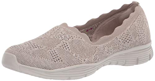 Skechers womens Seager - Bases Covered Loafer, Taupe, 5 US