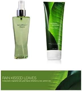 Bath & Body Works Rainkissed Leaves Body Cream & Fragrance Mist Gift Set Full Size