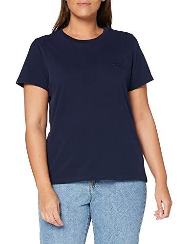 Superdry Damen OL Elite Crew Tee T-Shirt, Blau (Rich Navy ADQ), XL (Herstellergröße:16)