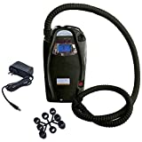 ALEKO BTEPUMPBAT Electric Air Pump with Storage Battery and Display Screen Portable Inflator Quick Fill 12V DC for Inflatable Boat Mattress Raft Pool Toys