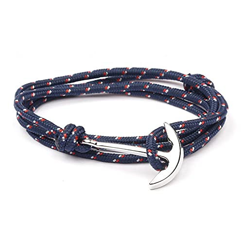 Pulsera de ancla marina 'Ocean' con cordón ajustable azul noche