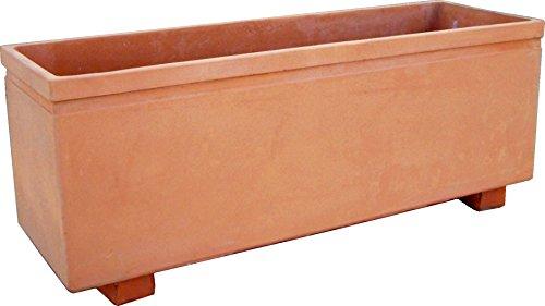 DEGARDEN Maceta en Color y Acabados Terracota Barro cocido en Piedra Artificial (Hormigón) para...