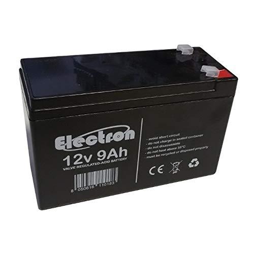 Batteria al Piombo Ricaricabile 12V 9Ah Lead Acid AGM VRLA Faston F2 Per allarmi antifurti, sistemi di sicurezza, Batterie di ricambio per UPS USV, Solar, Solarpanel