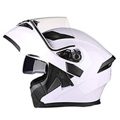 Casco abatible Casco Bluetooth Moto Scooter de carreras Visores dobles Antiniebla Cascos modulares de motocicleta de cara completa DOT