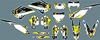CSMDELAY PJDSTカスタマイズ3MオートバイデカールステッカーグラフィックグラフィックデカールキットHusqvarna TC TE 2014 2015 2015 2015 hncsm (Color : 2)