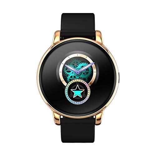 BNMY Smartwatch Reloj Inteligente Impermeable IP67 para Hombre Mujer,Reloj Inteligente con Monitor De Sueño Contador De Caloría Pulsómetros Podómetro para Android iOS,Oro