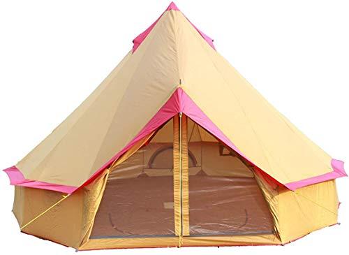Tienda de campaña Ligera, Tiendas Yurt de 4 Temporadas para Acampar, Tienda de campaña de 4 m, con Cremallera en sábana, 5-12 Personas con carvas de Lona, Festivales y Refugio Humano para habitar o
