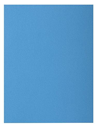 """Exacompta 800019E - Lote de 100 Subcarpetas Rock""""S 80, Color Azul"""
