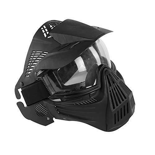 Outdoor Kampfpanzer Schutzmaske Sonnenschutz PC Brille Fahrrad Mask MA-58-BK Schwarz