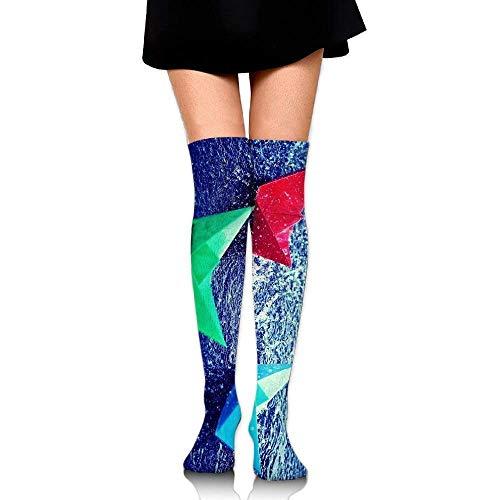 zhulaowufenbaoyouxi Frauen-Schenkel hoch über Knie-Origami-Kran-langem Schlauch-Kleid-Legging Fußball-Kompressions-Strumpf-Trend 1891