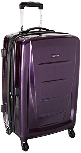 Samsonite Winfield 2 Hardside Expandable Luggage with Spinner Wheels, Purple, Checked-Medium 24-Inch