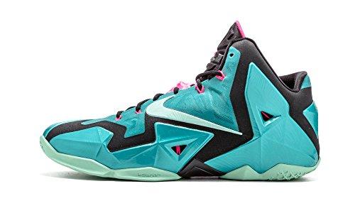 Nike Lebron XI Men's Shoes Sport Turquoise/Black/Medium Mint 616175-330 (Size: 10.5)