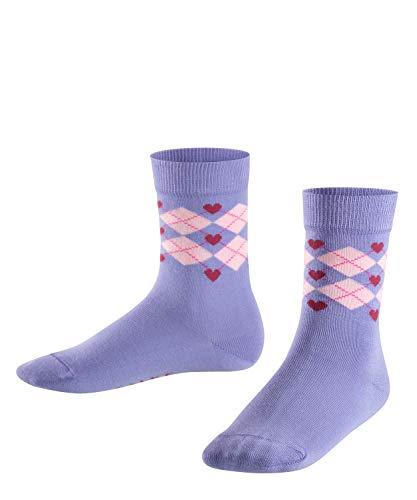 FALKE Kinder Socken Hearts Argyle, 1 Paar, fingerhut, 23-26
