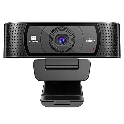 HD Webcam 1080P with Microphone & Cover Slide, Vitade 928A Pro USB Computer Web Camera Video Cam for Streaming Gaming Conferencing Mac Windows PC Laptop Desktop