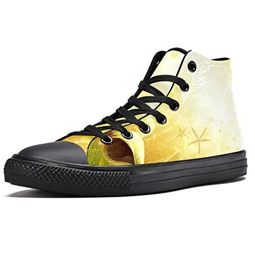 LORVIES - Zapatillas de deporte con estrella de mar para hombre, (multicolor), 36 EU