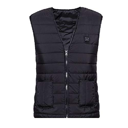 Wuqiong Frauen Männer Beheizte Jacke Weste DREI Temperatur elektrisch beheizten Mantel erhitzt Gänge Waschbar USB One Button Heizung Weste Powered