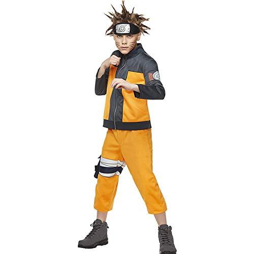 YHX Naruto Uzumaki Naruto Cosplay de Anime para niños, Cosplay, Disfraz de actuación de Fiesta de Halloween