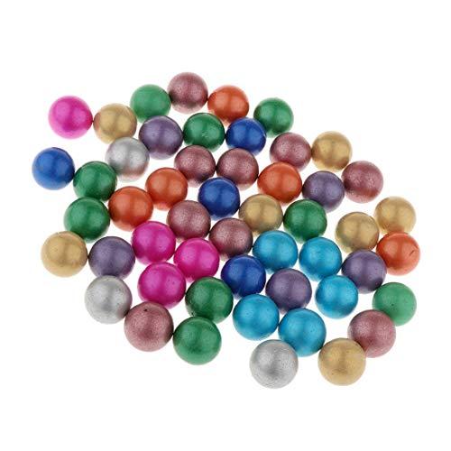 COOLISH 90 Stück 16mm farbige Glasmurmeln Traditionelles Ballspiel Vase Aquarium Dekoration