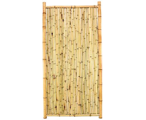 bambus-discount.com Bambuselement Ten New Line2 180x90cm geschlossen, Füllung und Rahmen aus Natur Rohren Sichtschutzwand Sichtschutzelement