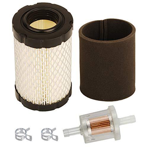 Kit de filtro de aire de Carkio para filtro de combustible John Deere L105 L107 LA135 LA145 D160 D170 E100 E120 E130 Z335E Z335M Z345R Z355R Reemplazar para MIU14395 GY214353535 MIU13. 963 Cortacésped