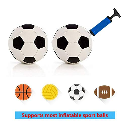 Syolee Tool Inflator Ball Pump with 10 Pcs Needles and 1 Pcs Valve Adapter 1 Pcs Air Hose for Football Basketball Volleyball Rugby Balloons and other Inflatable