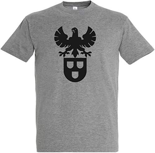 Herren T-Shirt Maler Zunftwappen S bis 5XL (Grau, L)