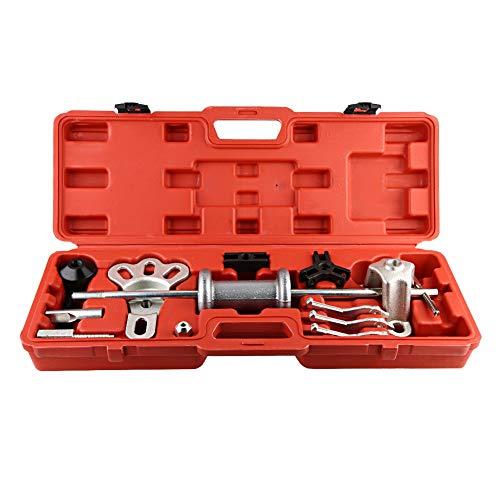 Juego de martillo deslizante, 10 vías, 17 piezas, juego de extractor de martillo deslizante universal para automóvil, kit de martillo deslizante universal para automóvil