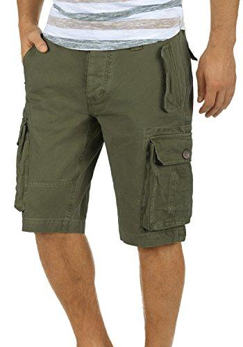 !Solid Pombal Herren Cargo Shorts Bermuda Kurze Hose Aus 100% Baumwolle Regular Fit, Größe:M, Farbe:Ivy Green (3797)