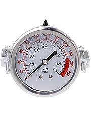 """Bilinli 0-1.6MPa 0-220psi Medidor de presión de Agua líquida Medidor 1/4""""f Bomba de ósmosis inversa"""