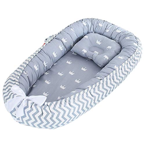 Save %42 Now! Borje Baby Lounger, Portable Super Soft Organic Cotton and Breathable Newborn Lounger,...