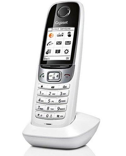 Gigaset C620H - Teléfono fijo digital (inalámbrico, pantalla LCD, identificador de llamadas), blanco (importado)