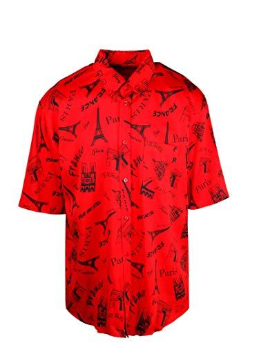 Luxury Fashion   Balenciaga Heren 595250TGLC46400 Rood Katoen Overhemden   Lente-zomer 20
