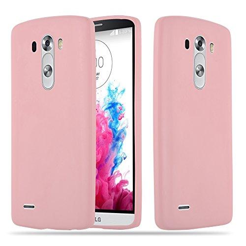 Cadorabo Funda para LG G3 en Candy Rosa - Cubierta Proteccíon de Silicona TPU Delgada e Flexible con Antichoque - Gel Case Cover Carcasa Ligera