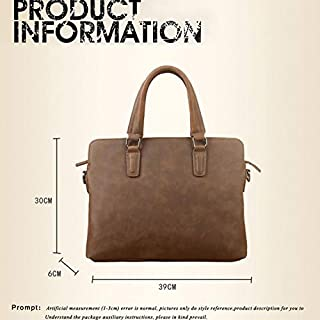 LBYMYB Fashion Vintage Leather Shoulder Bag Large Capacity Hand Bag