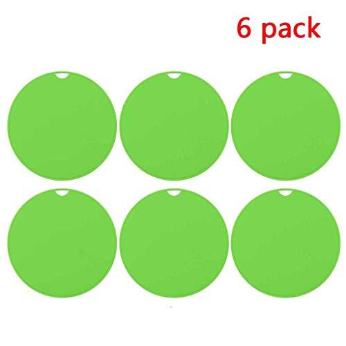 6-Pack Silikon trivets Modernen Topf Rack Löffelhalter Geschirr Matte Küchenarbeitsplatte Isolierung Handschuhe Verbrühungsschutz langlebig und flexibel (Color : Green)