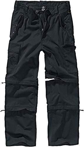 Brandit Savannah Pantalones para Senderismo, Negro, M para Hombre