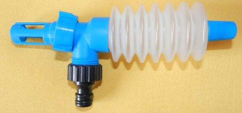 AQUAMON Handpumpe zur Füllmengenkorrektur bei Wasserbetten - Komplett-Set inkl. Anschlussadapter, Gardena-Kompatibel