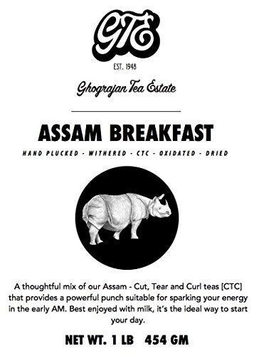 Ghograjan Assam CTC Loose Black Tea from India (200+ Cups) - Fresh Harvest - Perfect for Strong Morning Milk Tea Or Indian Chai Tea - Farm2Cup No Middleman - Bulk Pack - 1 Pound