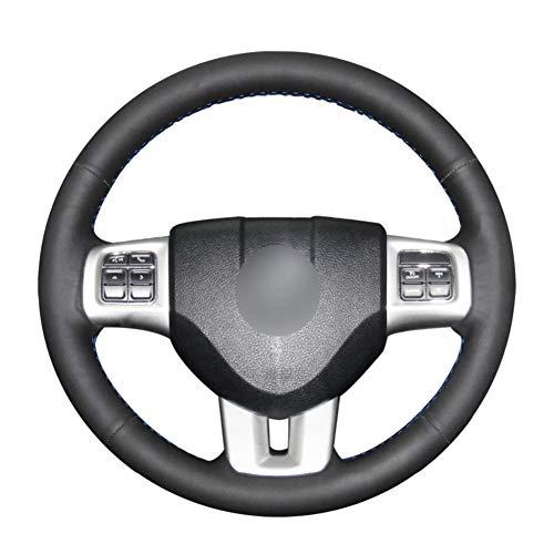 ZHHRHC Cubierta de Cuero para Volante de Coche de Bricolaje, para Dodge Grand Caravan Journey Avenge